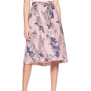 Banana republic floral midi skirt